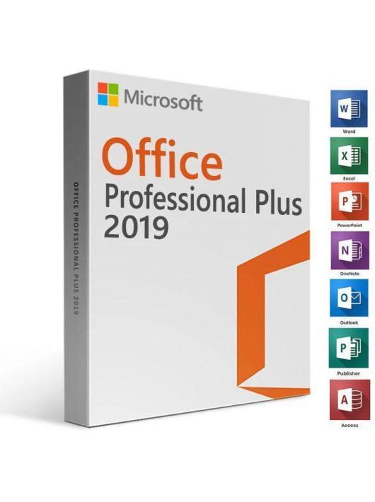 Microsoft Office Pro Plus 2019 Retail PC (Digitális Kulcs)